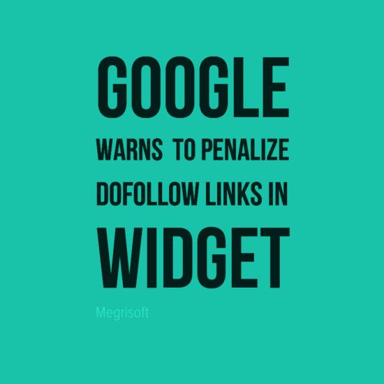 A reminder about widget links